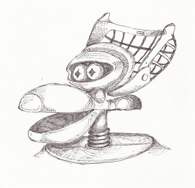 sketchy sunday  crow t  robot